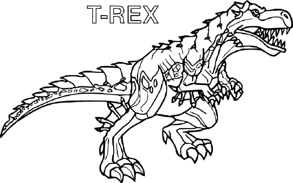 malvorlage dinosaurier t rex ausmalbild  fantastic