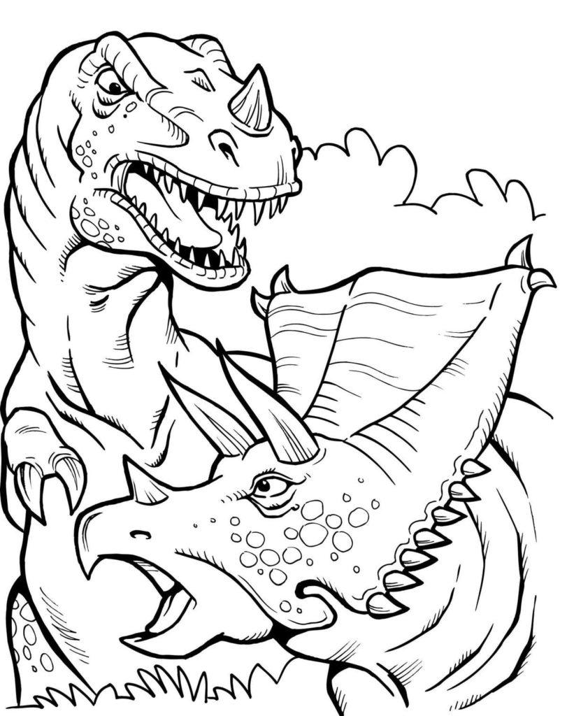 Disegni Da Colorare T Rex E Stampare On Wonder Day Com