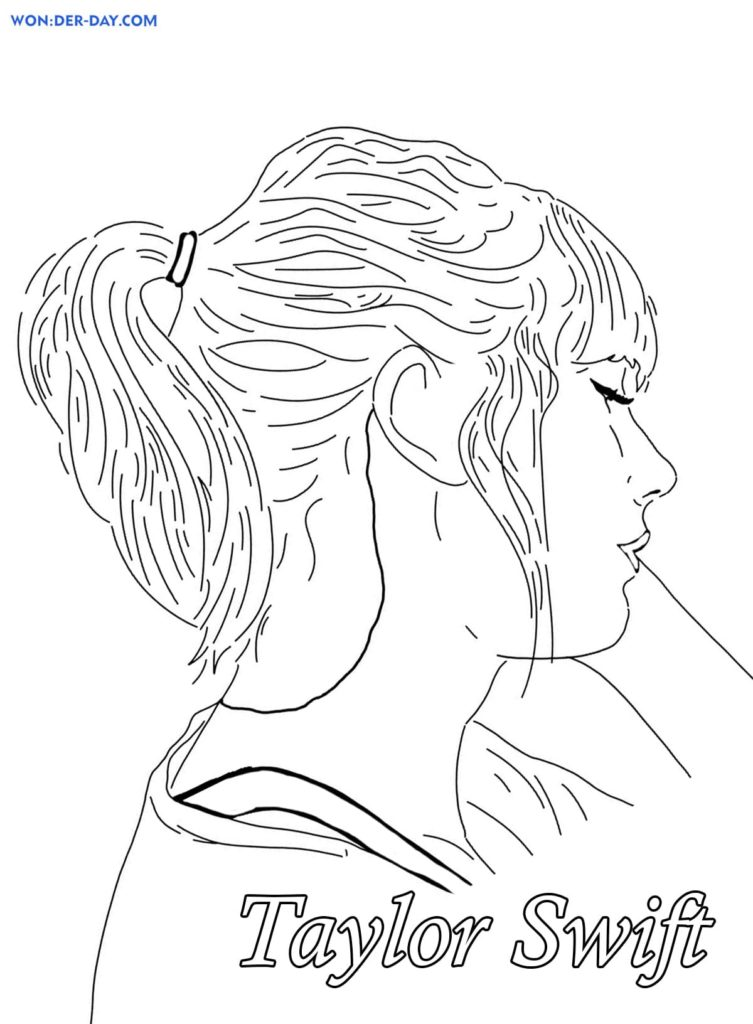 Coloriages Taylor Swift