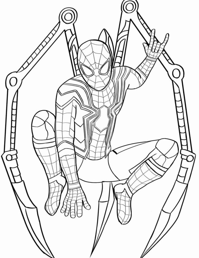 ausmalbilder spiderman  gratis zum drucken