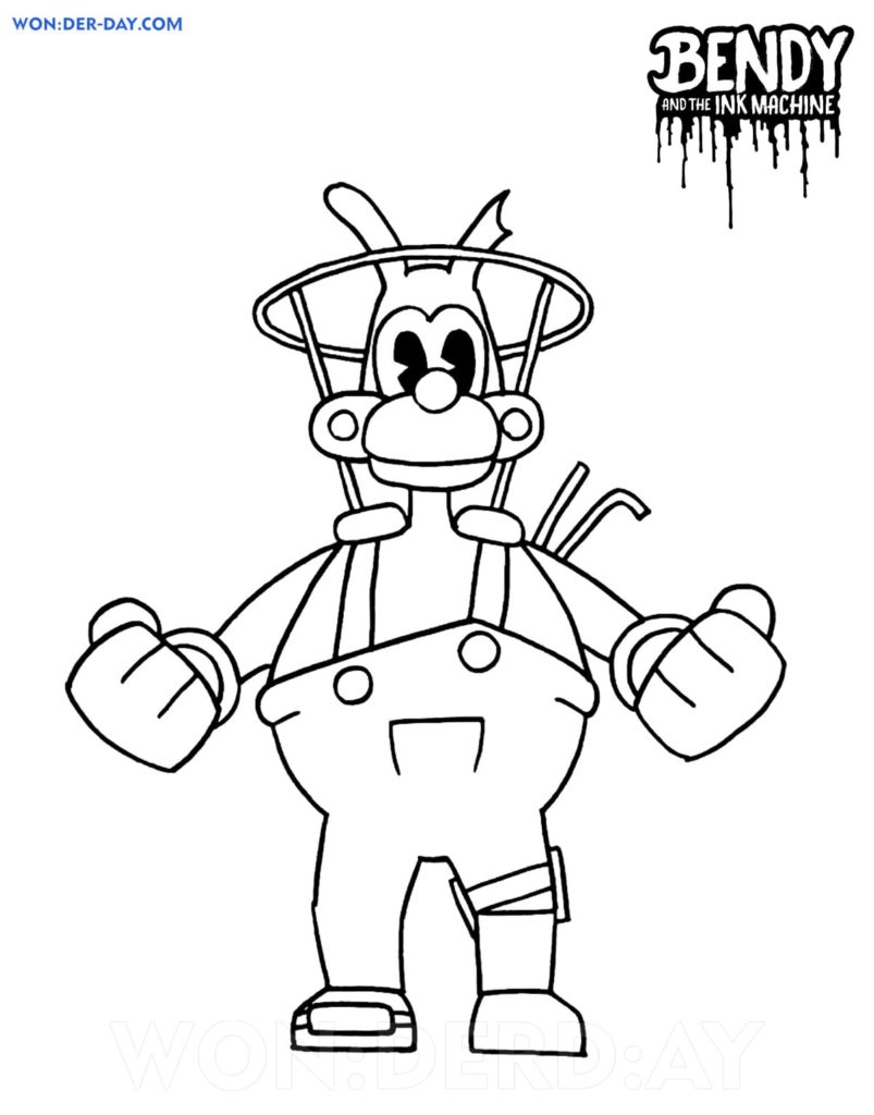 Bendy and The Ink Machine Coloring Pages   Wonder day.com