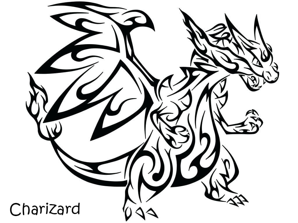 Charizard Coloring Pages Print For Free Wonder Day