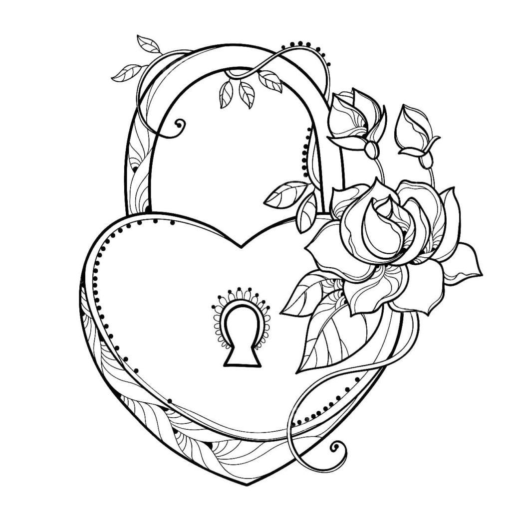 Ausmalbilder Herzen - Kostenlose Ausmalbilder