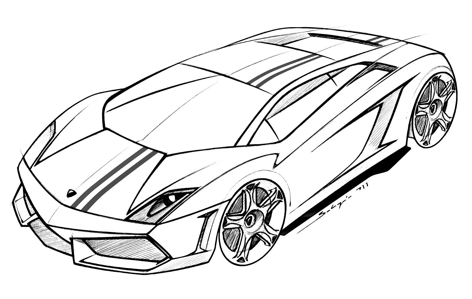 Ausmalbilder Lamborghini - Drucken Sie für Kinder