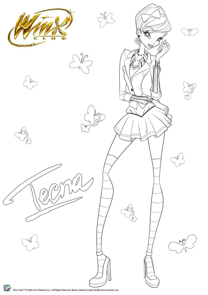 Winx Club coloring pages. Print for free