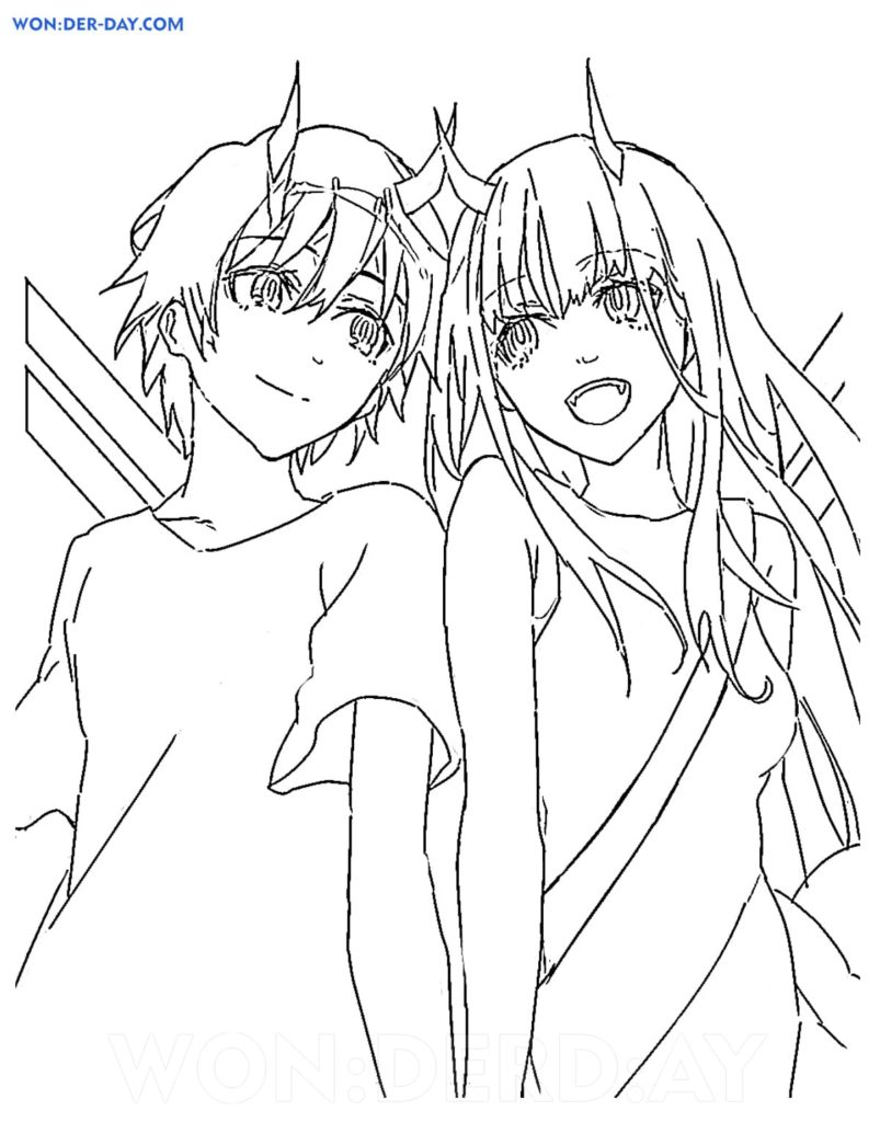 Darling in the Franxx Coloring Pages