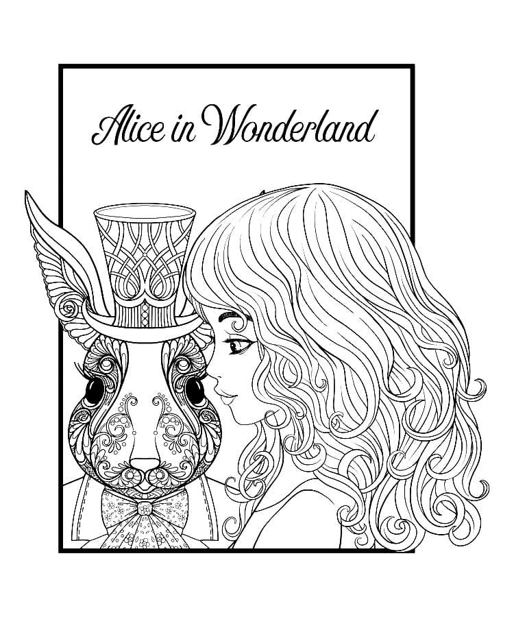 Alice In Wonderland Coloring Pages - 90 Free Images For Print