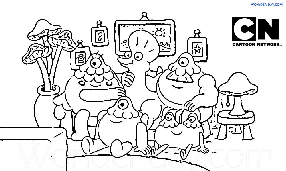 Cartoon Network Coloring Pages - 100 Free Coloring Pages