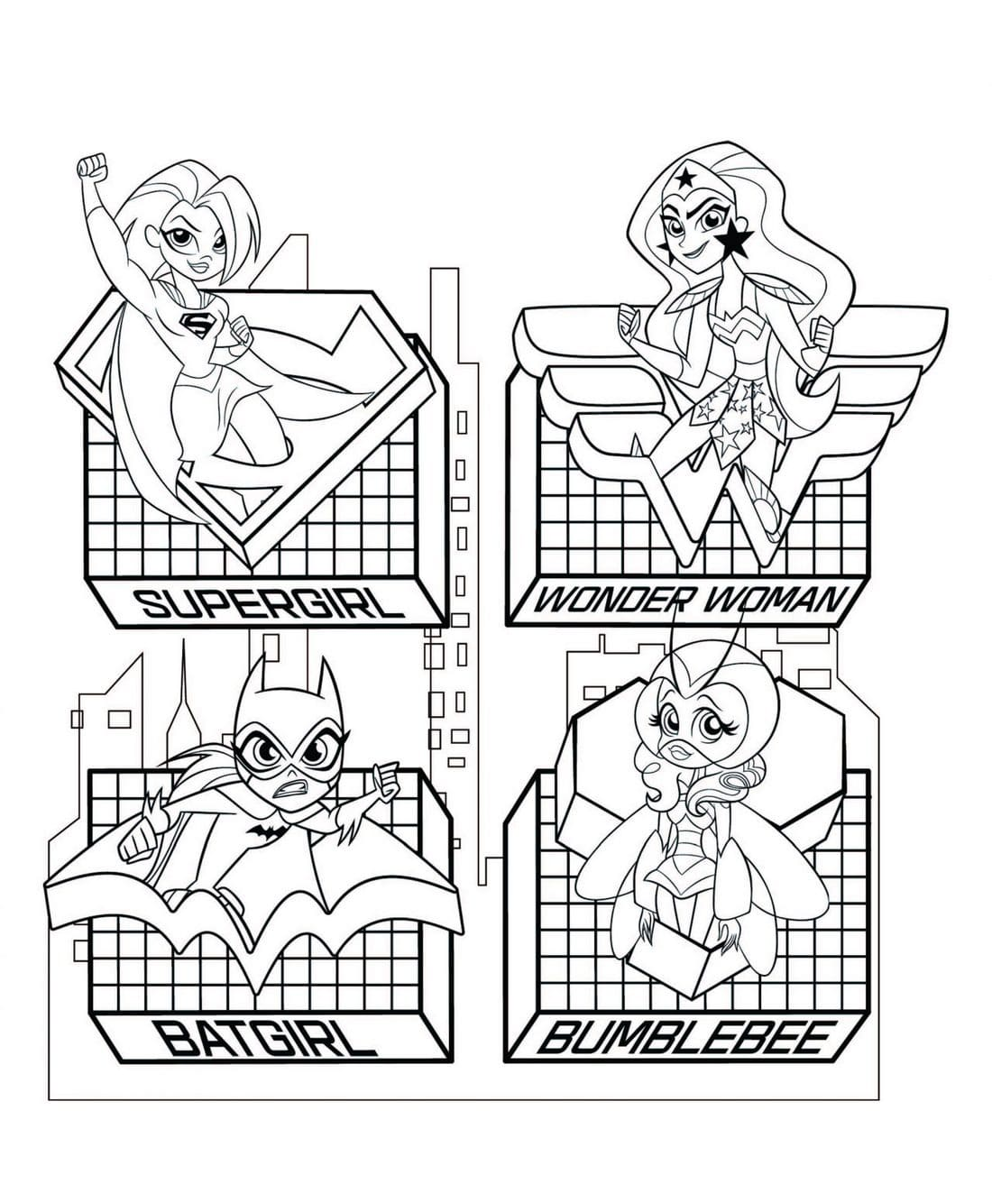 Dc Superhero Girls Coloring Pages Wonder Day