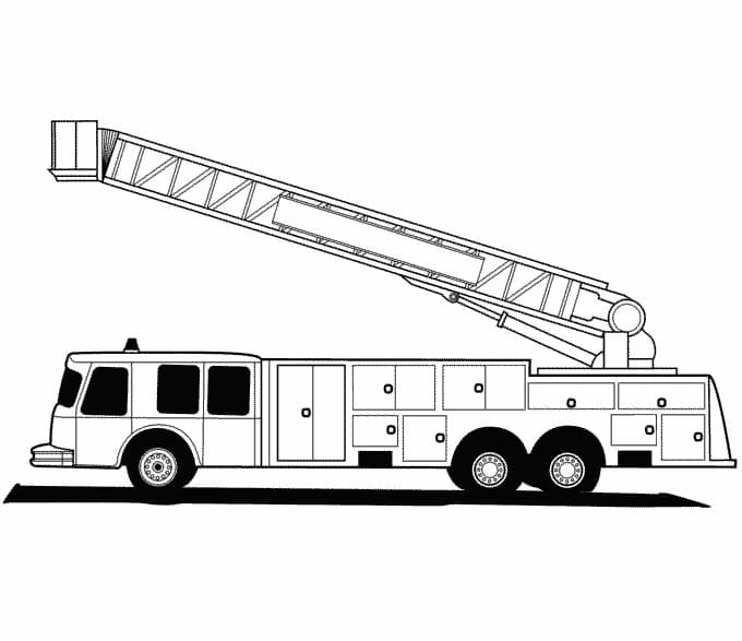 Fire Truck Coloring Pages. Printable Coloring Pages For Kids