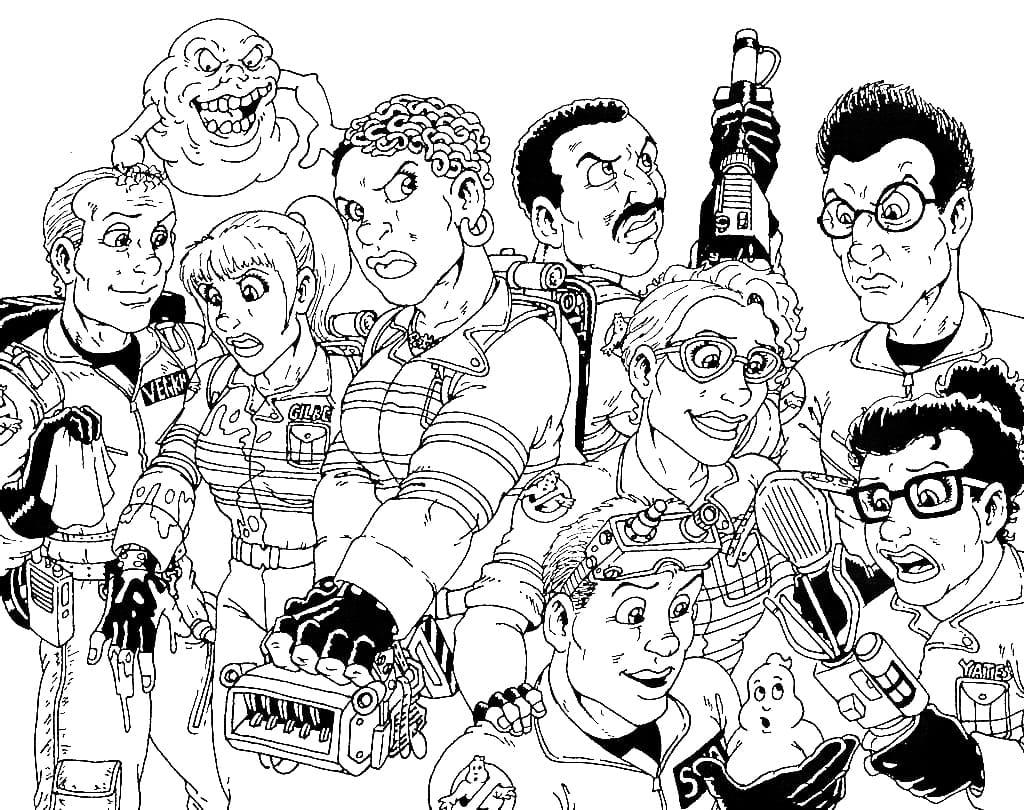 Ausmalbilder Ghostbusters - Malvorlagen zum Ausdrucken