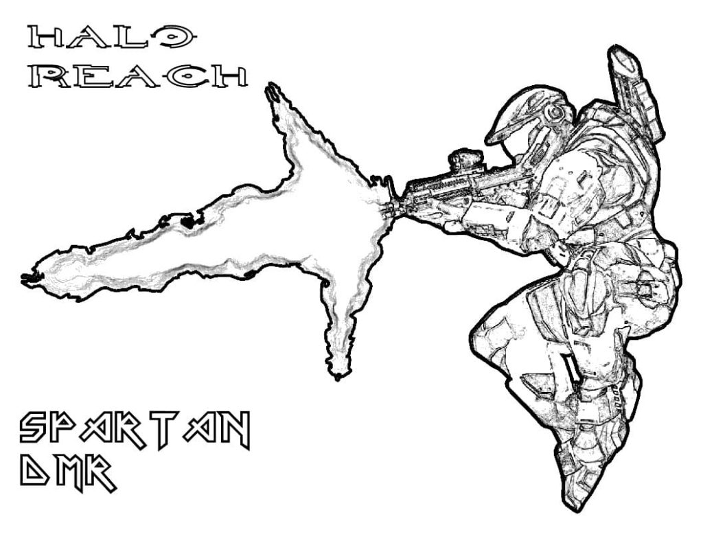 Halo Coloring Pages 90 Printable Coloring Pages