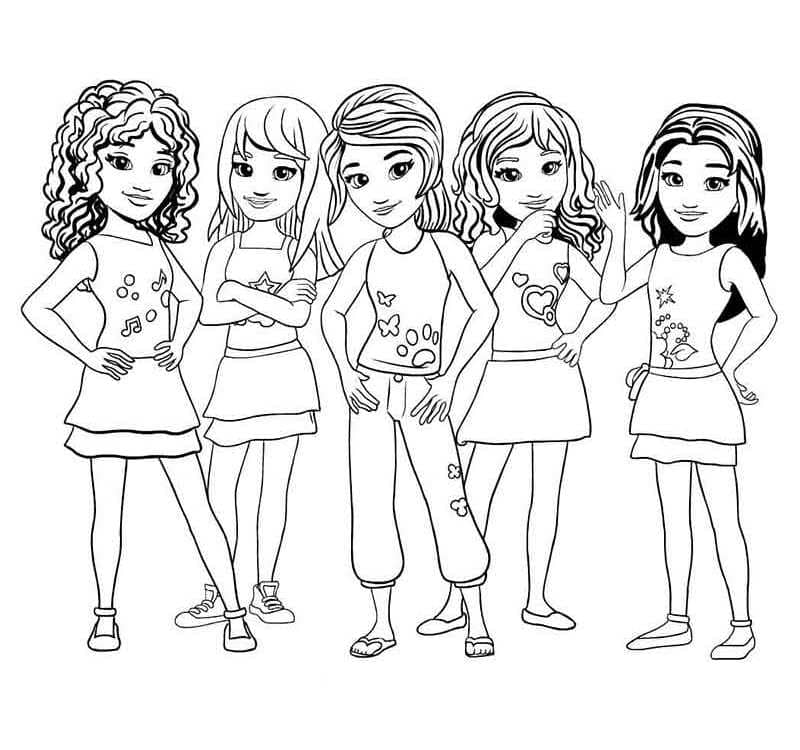 Lego Friends Coloring Pictures Www Robertdee Org
