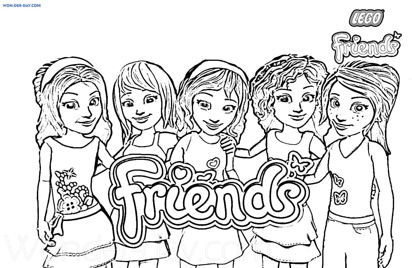 Ausmalbilder Lego Friends. Drucken für Mädchen  WONDER DAY