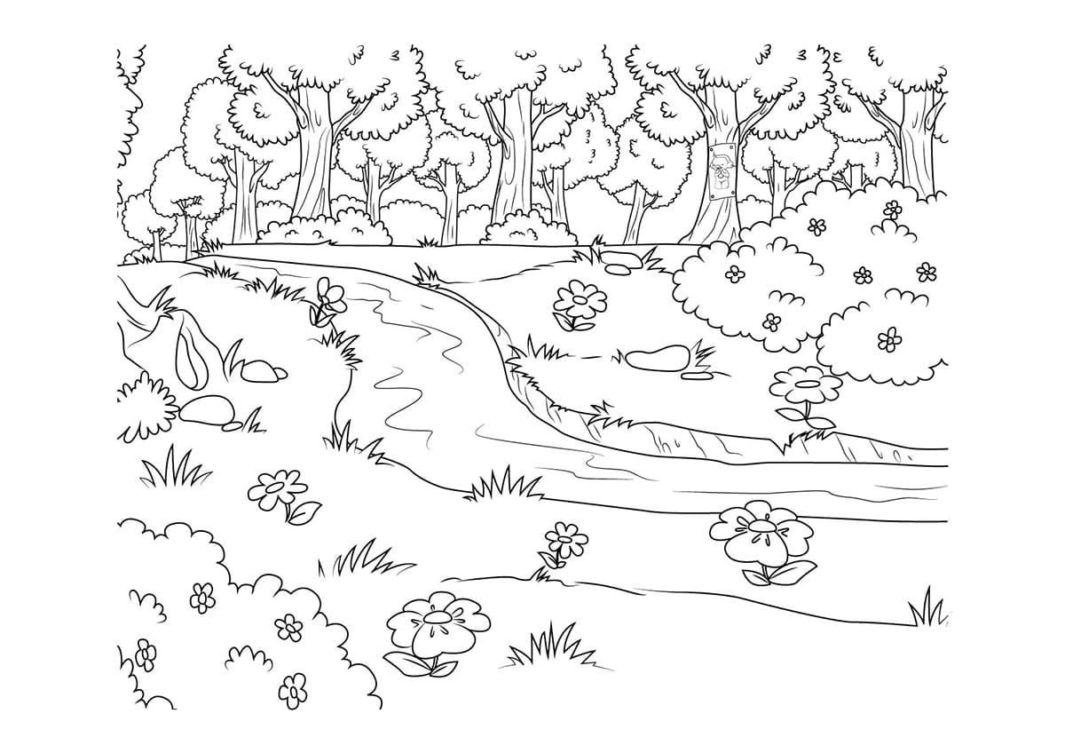 Disegni Per Bambini Paesaggi Primavera