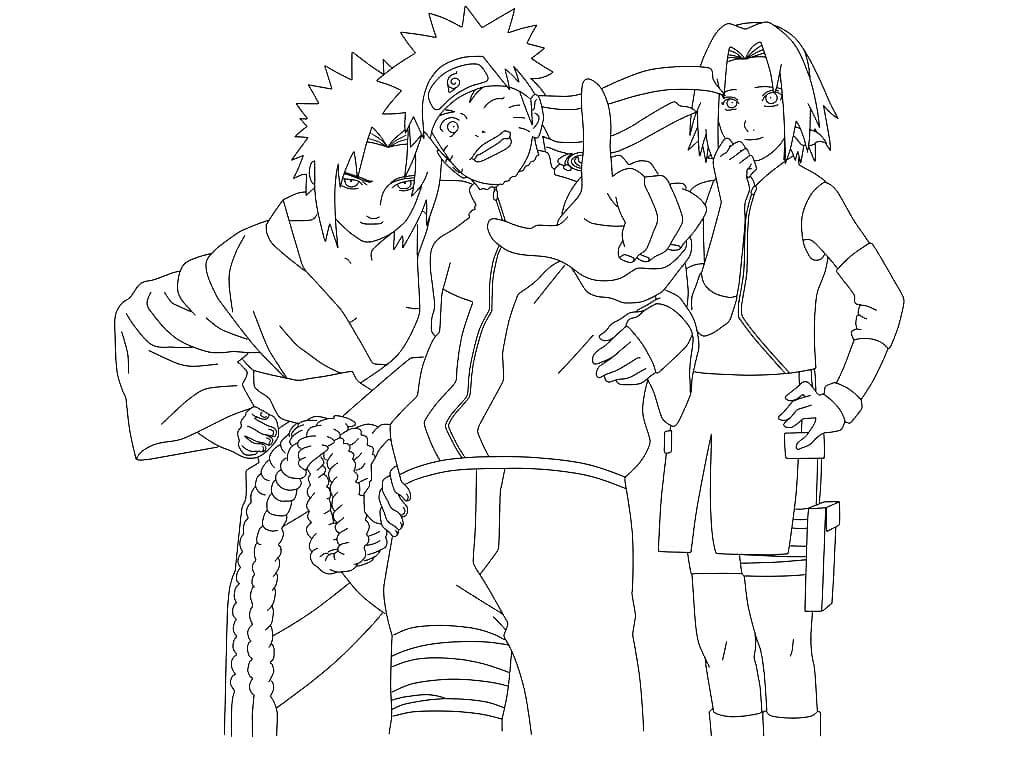 Ausmalbilder Sasuke Uchiha - Kostenlose Ausmalbilder