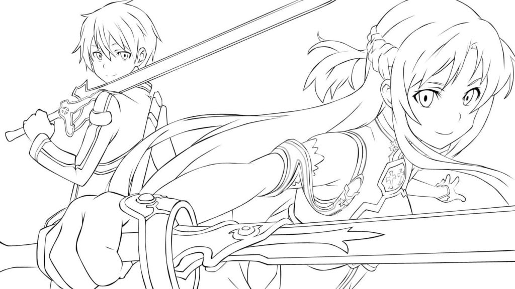 sword art online coloring  90 free coloring pages