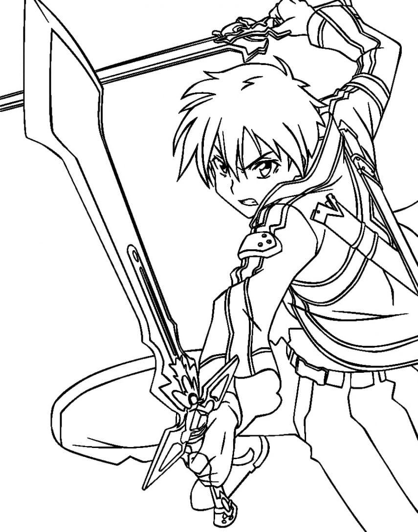 Ausmalbilder Sword Art Online - 30 Malvorlagen zum Ausdrucken