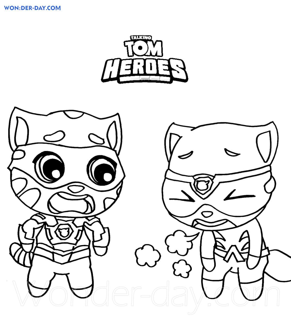 Ausmalbilder Talking Tom Heroes   Malvorlagen zum Ausdrucken