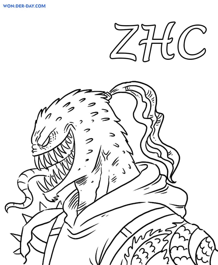 ZHC Coloring pages - Free Coloring pages