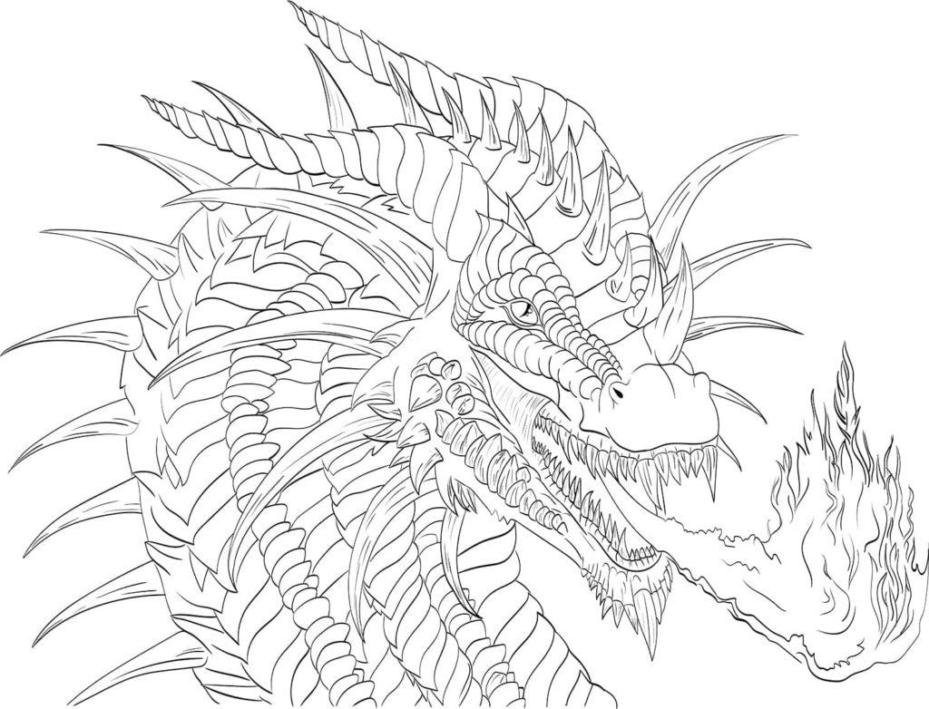Ausmalbilder Drachen - 28 Malvorlagen zum Ausdrucken