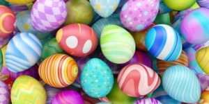 Easter eggs coloring pages