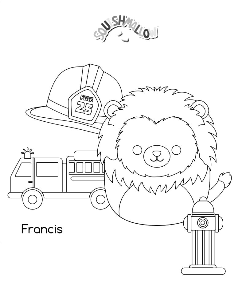 Squishmallows Coloring Pages Printable Coloring Pages
