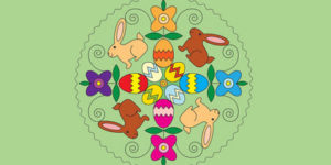 Coloriage Mandala Pâques