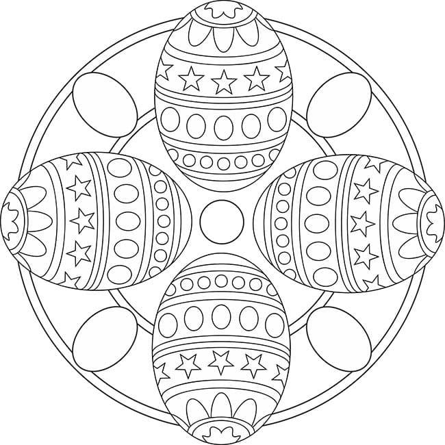 ausmalbilder ostern mandala  70 kostenlose malvorlagen