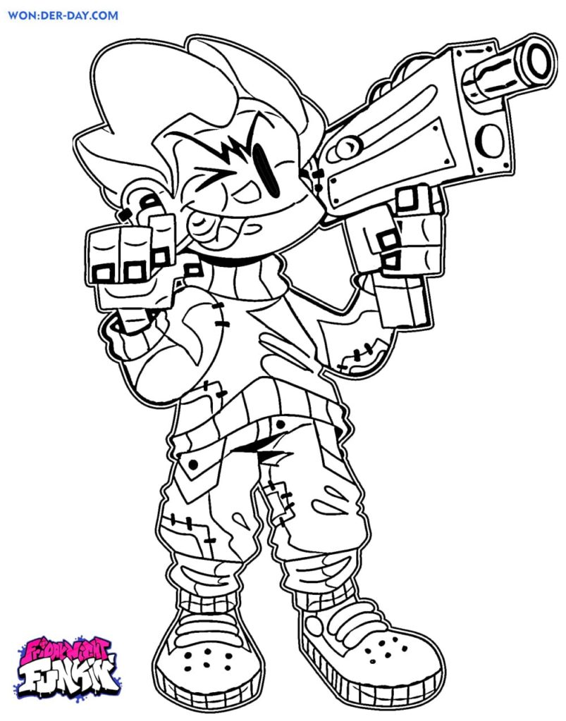 Friday Night Funkin coloring pages