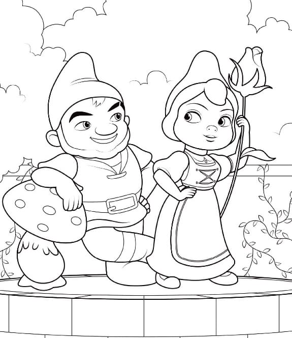 Gnome Coloring Pages Printable Coloring Pages For Kids