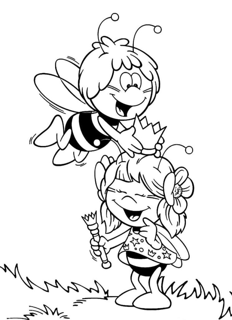 Coloriages Maya l'Abeille
