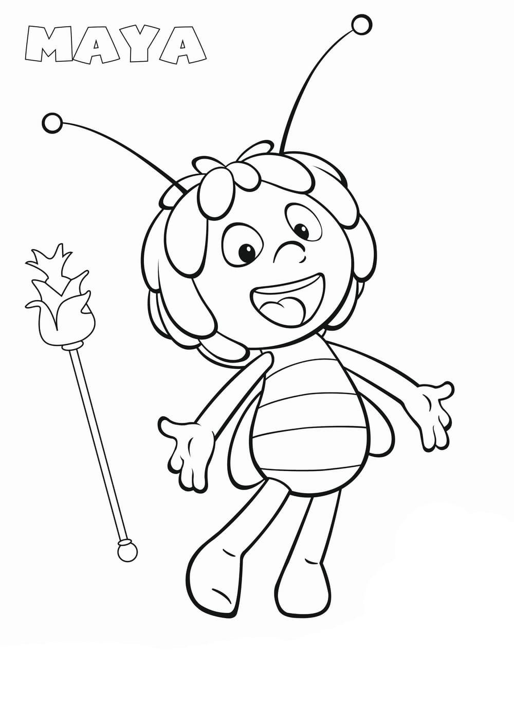 Ausmalbilder Biene Maja - 14 Malvorlagen für Kinder
