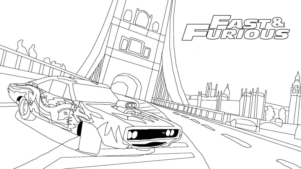 fast and furious 8 ausmalbilder  fast and furious 5