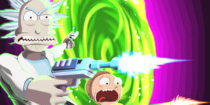 Disegni di Rick e Morty da colorare