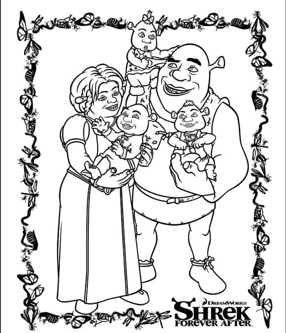 Shrek coloring pages