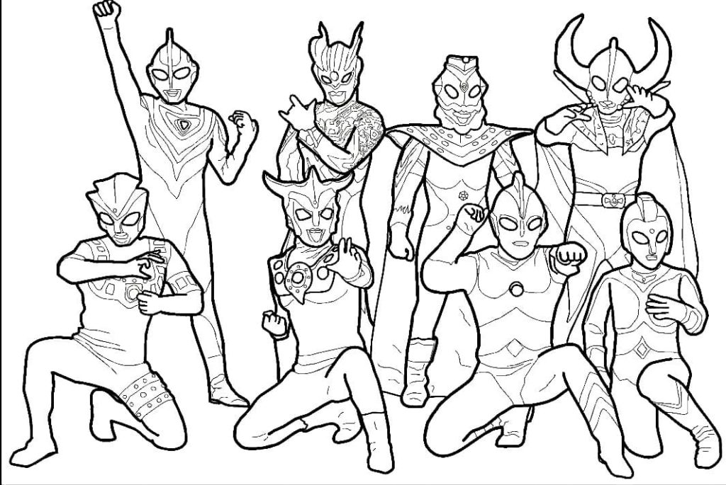 Ultraman coloring pages