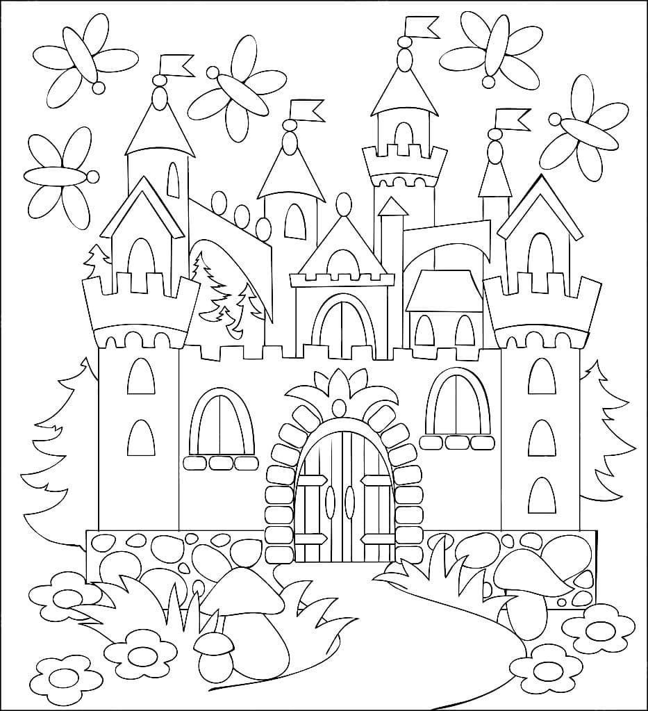 Ausmalbilder Burgen und Schlösser - 29 Ausmalbilder zum ausdrucken