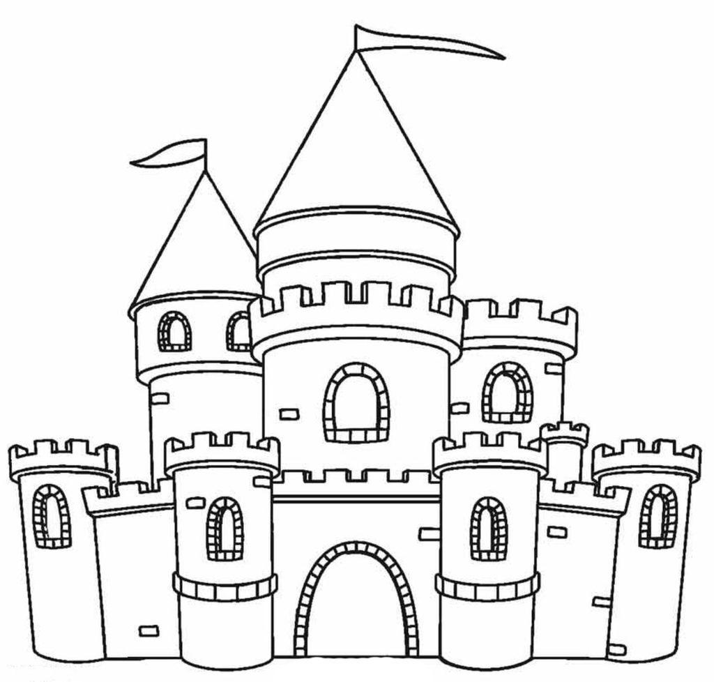 Ausmalbilder Burgen und Schlösser - 24 Ausmalbilder zum ausdrucken