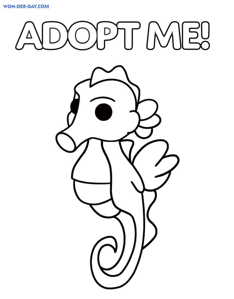 Adopt Me Coloring pages   Wonder day.com