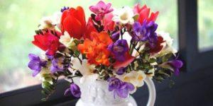 Desenhos de Buquê de Flores para colorir