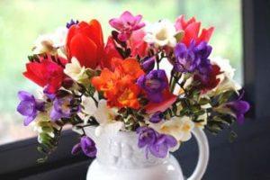 Dibujos de Ramo de Flores para colorear