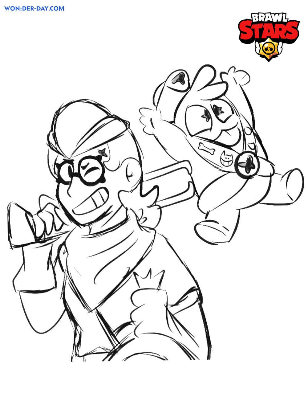 belle brawl stars coloring pages  wonder day