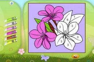 Desenhos para colorir com numeros