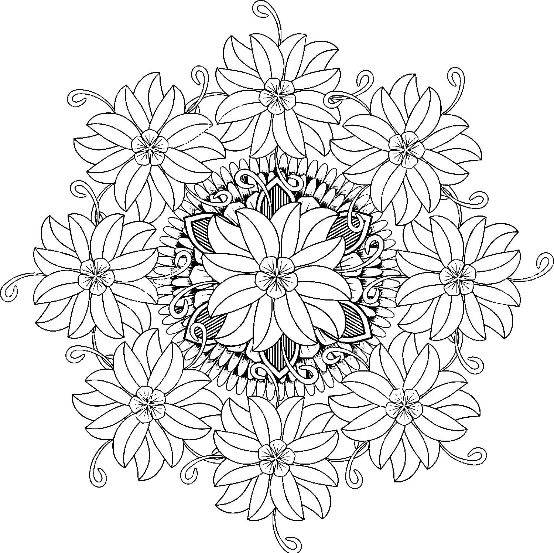 ausmalbilder mandala blumen - ausmalbilder zum ausdrucken