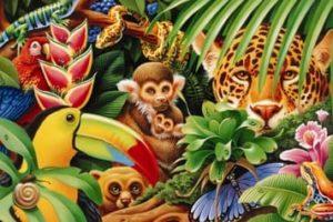 Desenhos de Animais da Selva para Colorir