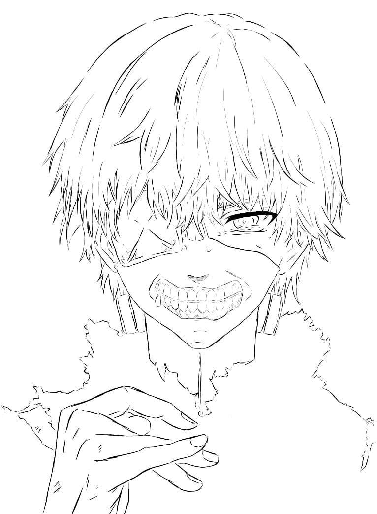 Ausmalbilder Tokyo Ghoul - Malvorlagen zum Drucken