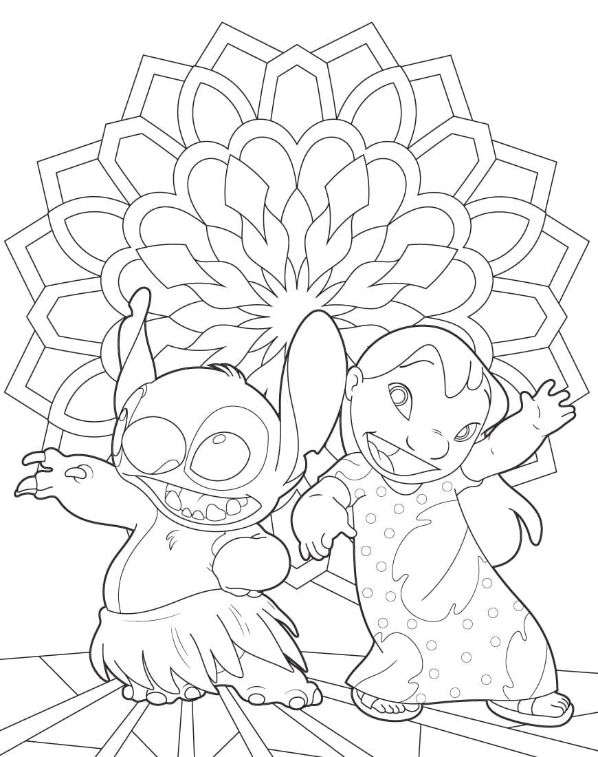 ausmalbilder lilo und stitch  malvorlagen für kinder
