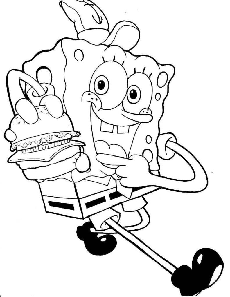 Ausmalbilder SpongeBob - 20 Kostenlose Ausmalbilder