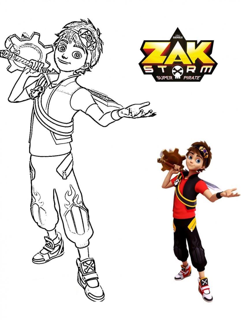 Ausmalbilder Zak Storm - Malvorlagen zum Drucken für Kinder
